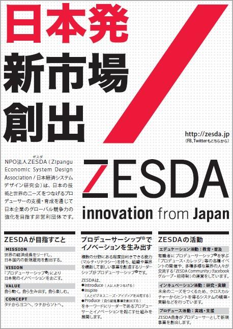 ZESDA 紹介フライヤーダウンロード
